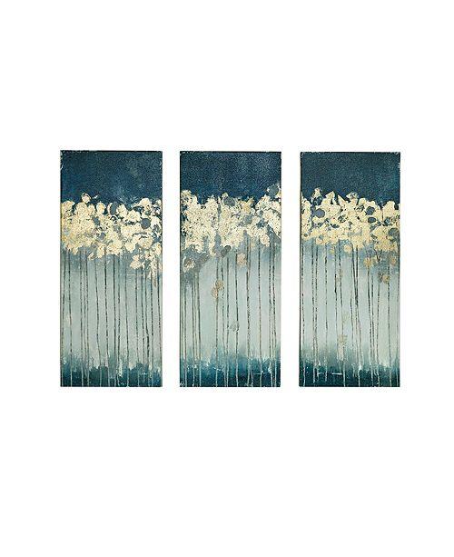 JLA Home Madison Park Midnight Forest 3-Pc. Gel/Foil-Embellished Canvas Print Set