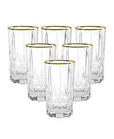 Lorren Home Trends Chic High Ball Tumblers - Set of 6