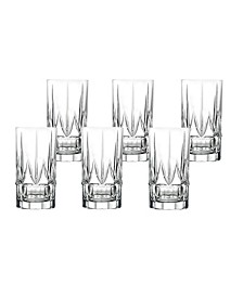 Chic High Ball Tumblers By Lorren Home Trends - Set of 6