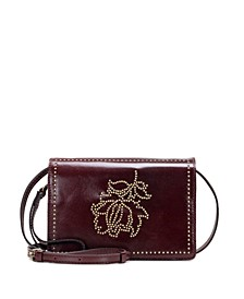 Studded Floral Lanza Crossbody