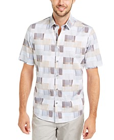 Men's Classic-Fit Geometric Line-Print Shirt, Created For Macy's