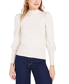 Pardon Lurex Puff-Sleeve Top