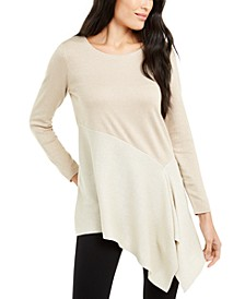 Asymmetrical Colorblocked Shimmer Top, Created For Macy's
