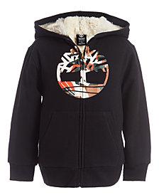 Timberland Little Boys Camo Tree Black Fleece-Lined Logo Hoodie