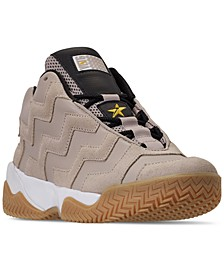 Women's VLTG Leather Suede Mid Casual Sneakers from Finish Line