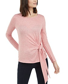 INC Petite Side-Tie Knit Top, Created For Macy's