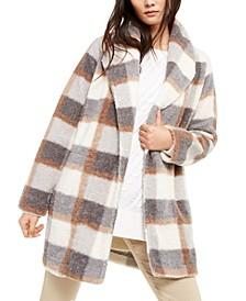 Plaid Fleece Flyaway Jacket