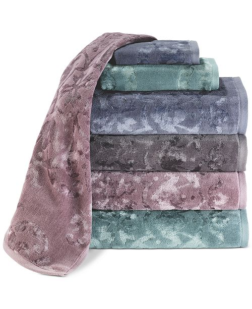 Avanti CLOSEOUT! Medallion Jacquard Bath Towel Collection