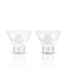Raye Gem Crystal Martini Glasses