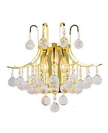 Empire 3-Light Gold Tone Finish and Clear Crystal Wall Sconce Light