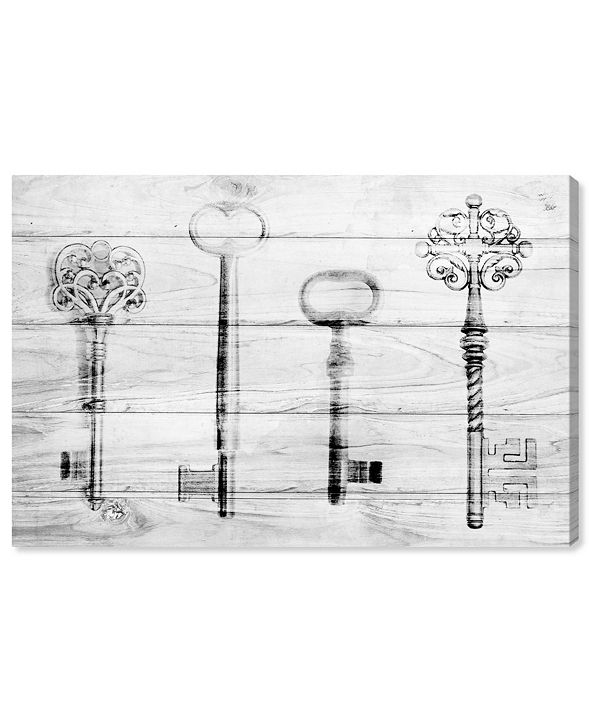 "Oliver Gal Vintage Keys Farmhouse Canvas Art, 45"" x 30"""