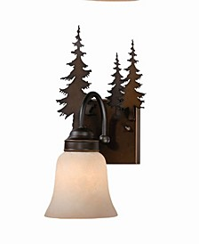 Yosemite 1 Light Rustic Tree Vanity Light