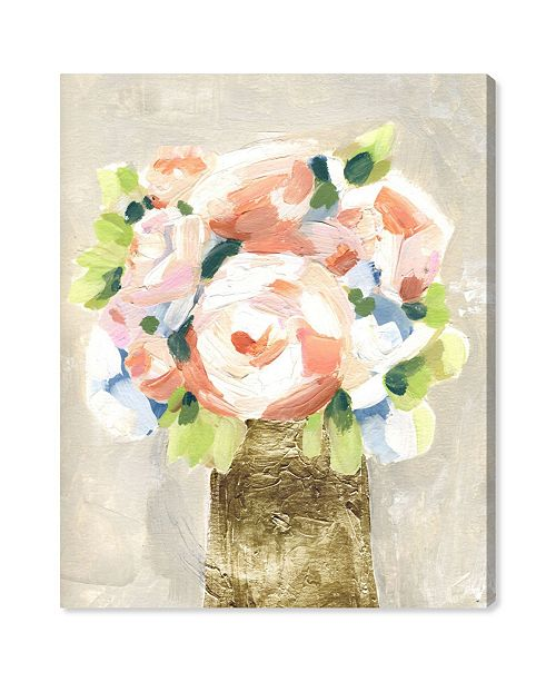 """Oliver Gal Coral Peonies Canvas Art, 30"""" x 36"""""""