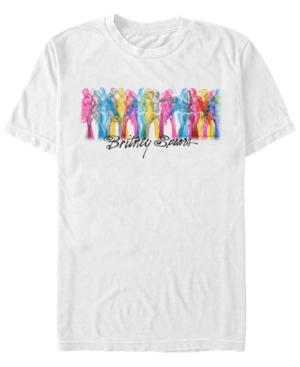 Britney Spears Men's Rainbow Dancer Short Sleeve T-Shirt