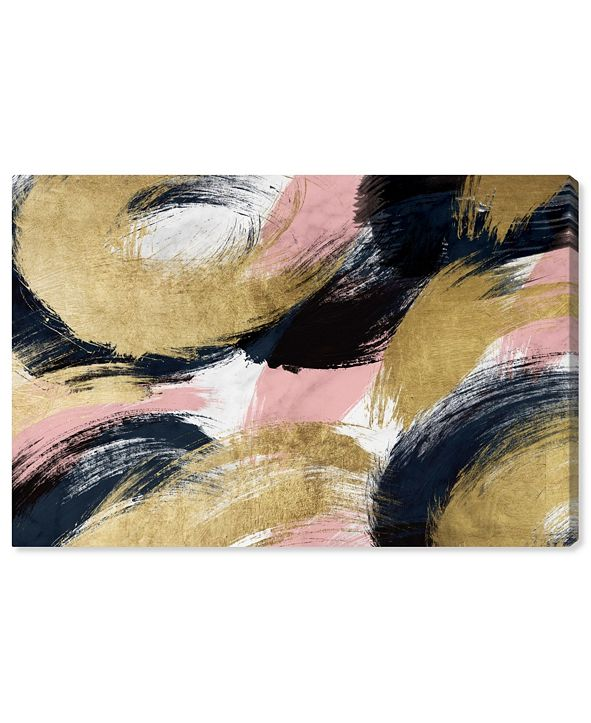 "Oliver Gal Blush and Midnight Dream Canvas Art, 45"" x 30"""