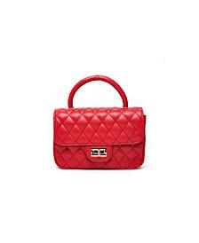 Quilted Plush Handle Handbag