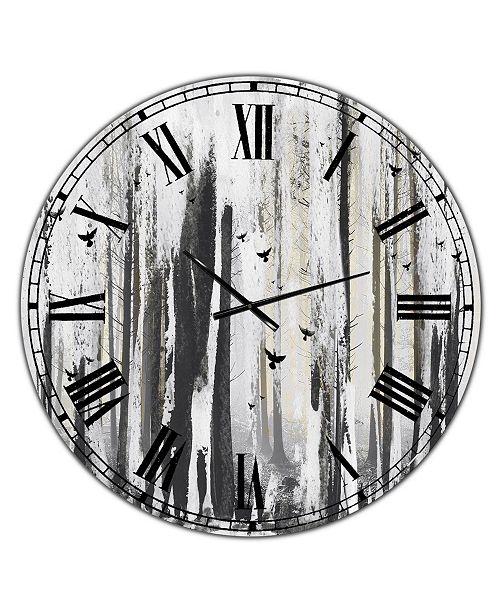 """Designart Strange World Oversized Cottage Wall Clock - 36"""" x 28"""" x 1"""""""