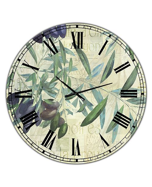 Designart Olives De Nyons Large Cottage Wall Clock 36 X 28 X 1 Reviews Clocks Home Decor Macy S