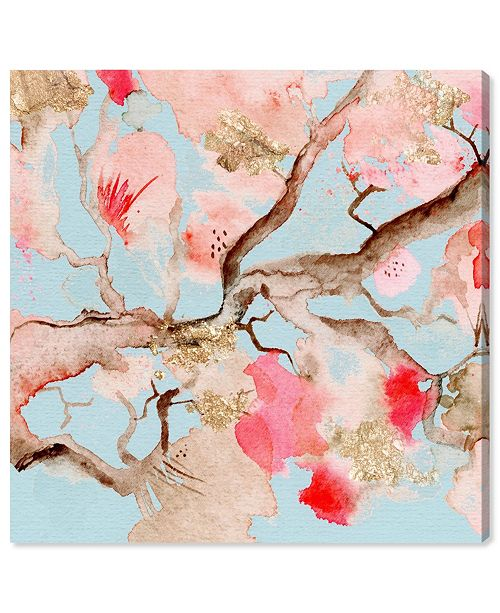 "Oliver Gal Julianne Taylor - Under The Blossoms and Sky Canvas Art, 16"" x 16"""