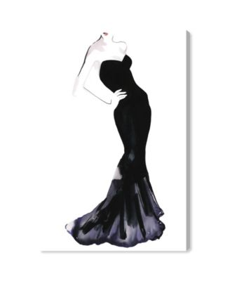 Black Dress - Gill Bay Canvas Art, 24