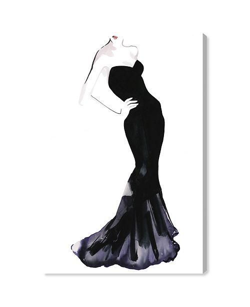 "Oliver Gal Black Dress - Gill Bay Canvas Art, 10"" x 15"""