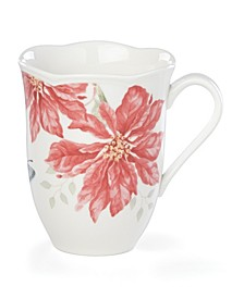 Butterfly Meadow Holiday Mug Poinsettia