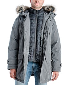 Michael Kors Men's Hooded Bib Snorkel Parka, Created for Macy's