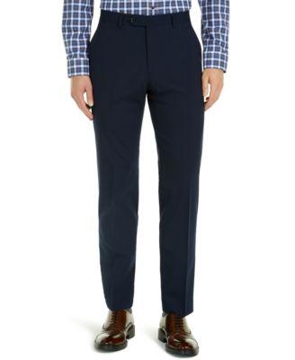 Men's Modern-Fit THFlex Stretch Navy Check Suit Pants