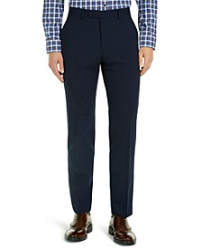 Men's Modern-Fit THFlex Stretch Navy Check Suit Pants