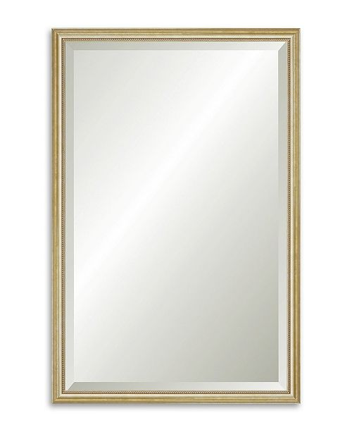 """Reveal Frame & Decor Reveal Delicate Gold Leaf Beveled Wall Mirror - 23.5"""" x 36.5"""""""