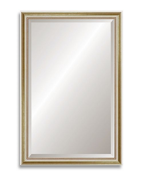 "Reveal Frame & Decor Reveal Gold Leaf Beveled Wall Mirror - 26"" x 39.5"""