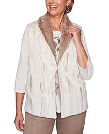 First Frost Reversible Faux-Fur Vest