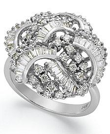 Classique by EFFY Diamond Swirl Ring (1-1/2 ct. t.w.) in 14k White Gold