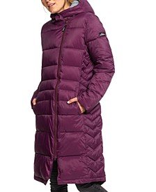 Juniors' Everglade Hooded Puffer Coat