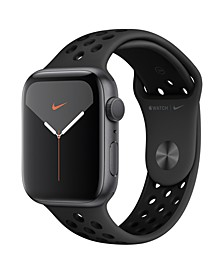 Apple Watch Nike Series 5 GPS, 44mm Space Gray Aluminum Case with Anthracite/Black Nike Sport Band