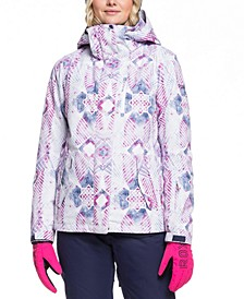 Juniors' Jetty Printed Hooded Snowboard Jacket