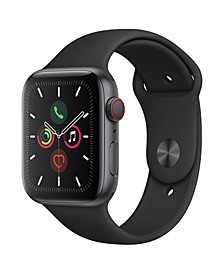 GPS + Cellular, 44mm Space Gray Aluminum Case with Black Sport Band