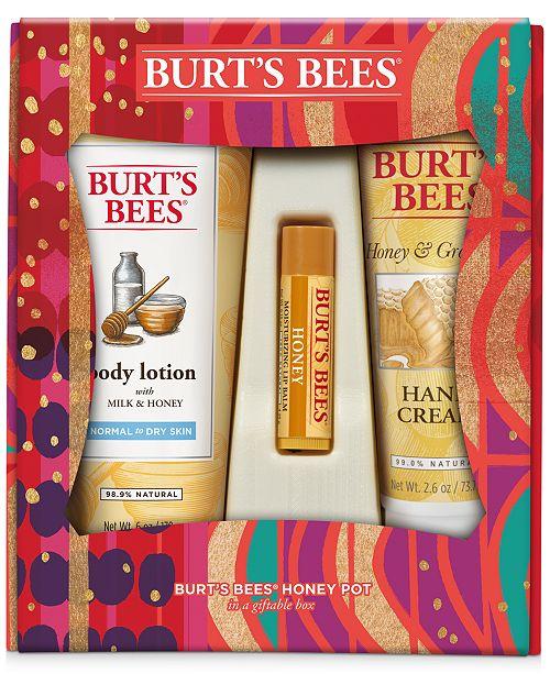 Burt's Bees 3-Pc. Honey Pot Gift Set