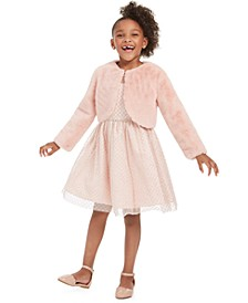 Toddler Girls 2-Pc. Faux-Fur Bolero & Glitter Dress Set
