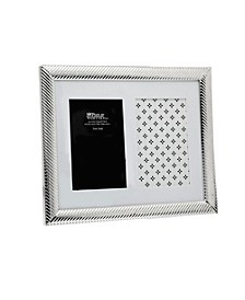 Silver Collage Diagonal Lines Frame