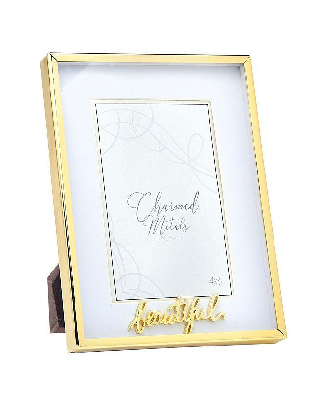 "Philip Whitney Beautiful Gold Frame - 6"" x 8"""