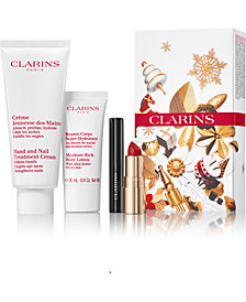 Clarins Macy's exclusive 4-Pc. Get Parisian Chic Gift Set