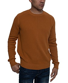 Men's Tri-Pattern Knit Sweater