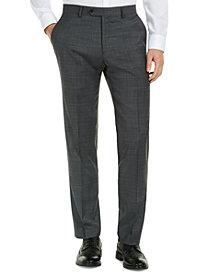 Tommy Hilfiger Men's Modern-Fit THFlex Stretch Gray/Blue Plaid Suit Pants