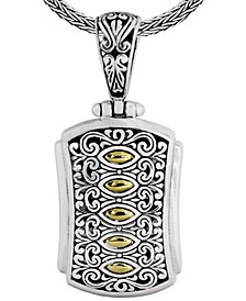 Bali Heritage Classic Pendant Necklace in Sterling Silver and 18k Yellow Gold Accents