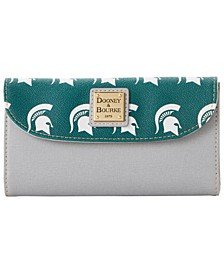 Michigan State Spartans Saffiano Continental Clutch