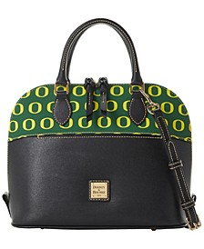 Oregon Ducks Saffiano Zip Satchel