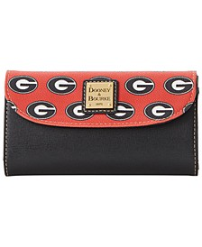 Georgia Bulldogs Saffiano Continental Clutch