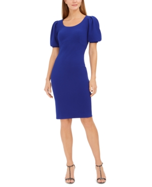 Calvin Klein Dresses PUFF-SLEEVE SHEATH DRESS