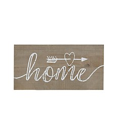 Madison Park Rustic Home Print On Real Wood Plank